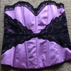 Purple Corset with black lace